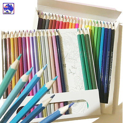 48 Colors Wood  Colored Pencils For Sketch Drawing Coloring Gift  SMAR56348