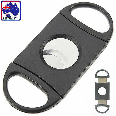 Double Blades Cigar Cutter Scissors Shear Knife Tobacco Trimmer Tool TCICK1259