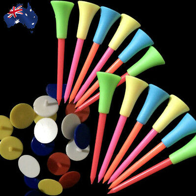 50x Rubber Cushion Top 83mm Golf Tees Golf Ball Markers Pack Colorful OBGOF