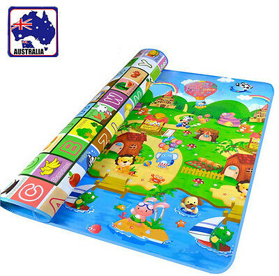 Baby Kid Child Play-mat Picnic Cushion Crawling Mat Rug Playing 2x1.8m OCUSH2002