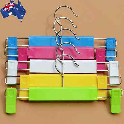 10x Kids Baby Children Trousers Rack Hangers Pants Clothes Plastic HFRAC 61