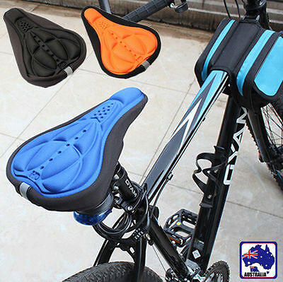 Thick Cycling Bicycle EVA Pad Seat Saddle Cover Soft Bike Black/Blue TBCUS 31