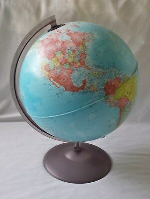 Vintage Style Modern World Globe On Plastic Stand - Made In Italy