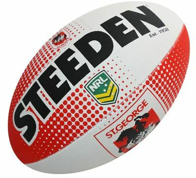 St George Illawarra Football Dragons Rugby League Ball Steeden Licensed NRL Ball