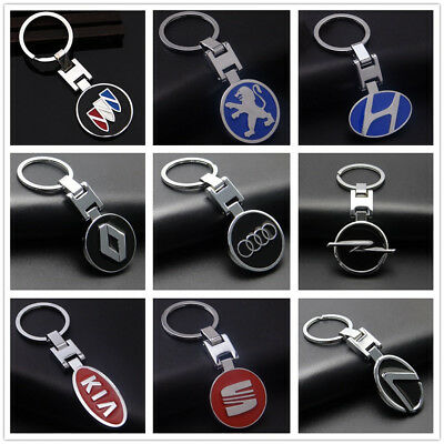 2017 Fashion Auto Part 3D Metal Famous Car Logo Model Keychain Keyring Colletion