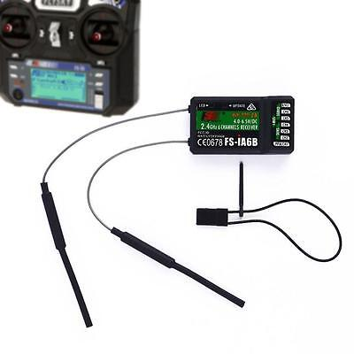 FlySky FS-iA6B 2.4G 6 Channels Dual Antenna Receiver For RC Modle Quadcopter MM
