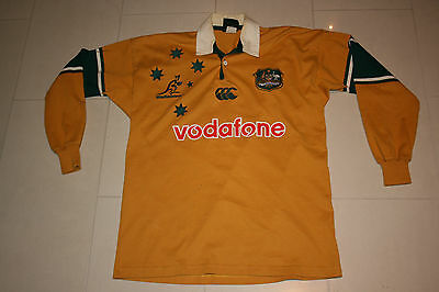 Vintage Australia Wallabies Jersey Rugby Union Australian Made L Mens Canterbury