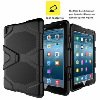 Screen Protector Shockproof Hybrid Rubber Hard Case Cover For Apple iPad Tablets