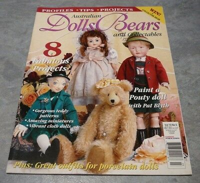 Australian Dolls, Bears and Collectables Vol. 10 No. 5 porcelain doll clothes