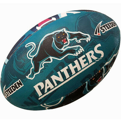 Penrith Panthers Football Rugby League Ball Full Size Steeden NRL 2017 Licensed
