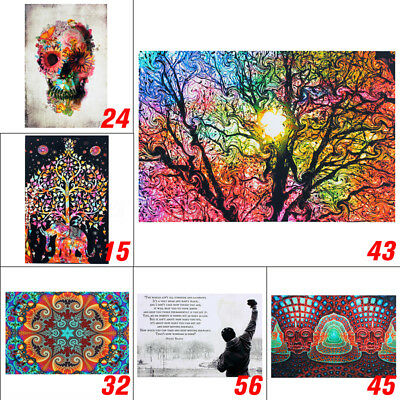 Psychedelic Trippy Art Fabric Silk Cloth Rolled Wall Poster Print 60x90cm 24x36""