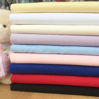 Plain 100% cotton Wynciette / flannel 41inches (105cm) wide sold per half metre