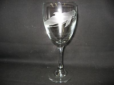 New Etched Pilot Whale Wine Glass