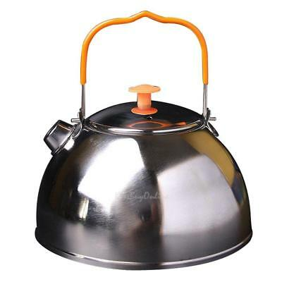 0.6L Outdoor Camp Picnic Cookware Teapot Stainless Steel Kettle Coffee Pot K1B