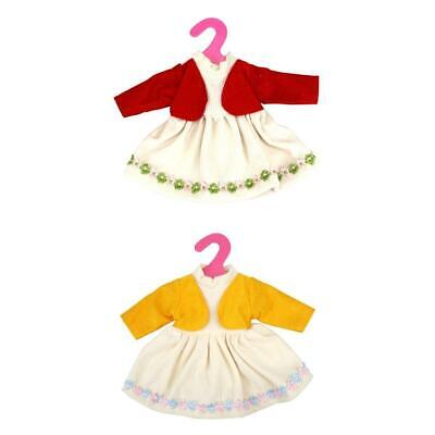 2 Pieces Doll Party Dress Dress Clothes For 16'' American Girl Doll and More