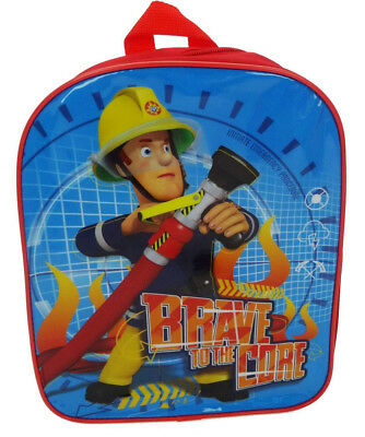 Brand New Fireman Sam 'Brave To The Core' Backpack School Bag Rucksack