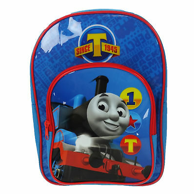 Classic Thomas and Friends Since 1945 Arch Backpack With Pocket Blue School Bag