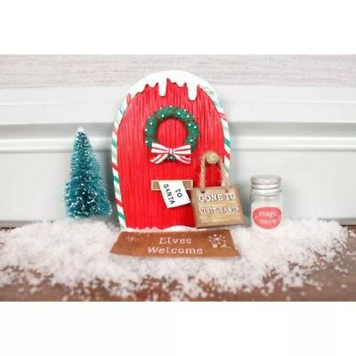 Magical elf door with key glitter scroll shelf on the for Elf door accessories