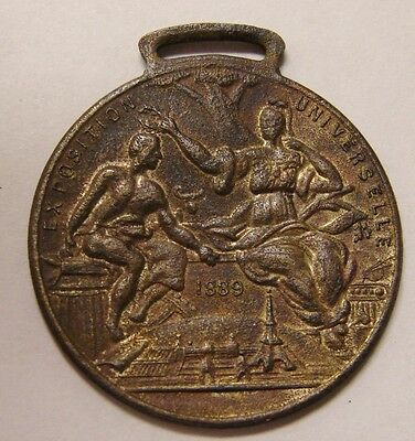 1889 French Universal Exposition Award Medal FOB - 31mm