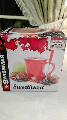 Swissmar Sweetheart 4pc Chocolate Fondue Set