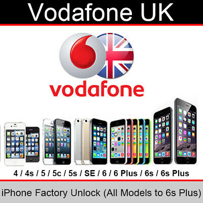 Vodafone UK iPhone Factory Unlocking Service (All Models up to 6s Plus)