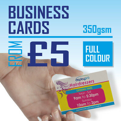 Printed Business Cards FULL COLOUR 350gsm Card - Quantity Discounts