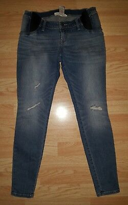 Liz Lange maternity jeans S small jeggings distressed