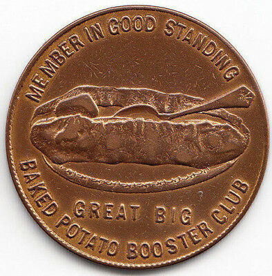 Baked Potato Booster Club token - Northern Pacific Railway
