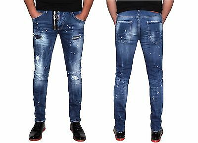 New Dsquared2 Slim Zip Jeans Men's Jeans Dsquared2 D2 All Sizes