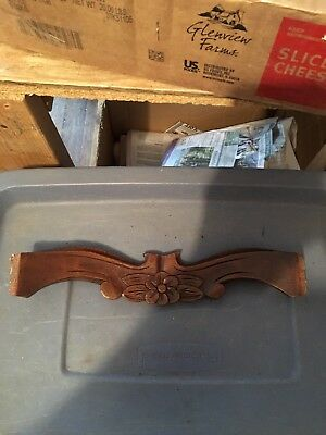 "1930's 13 1/2"" Carved Wood Pediment"