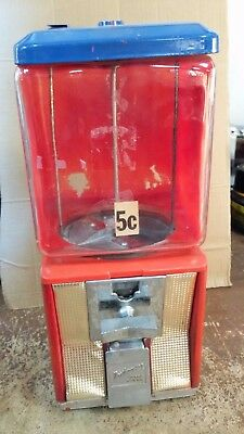 "1"" embossed Morris, IL glass vintage Northwestern Vending Machine 5 cent"