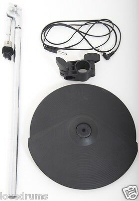 """Roland CY8 Electronic Dual Trigger 12"""" Cymbal + Mount/Arm + Rack Clamp + Lead"""