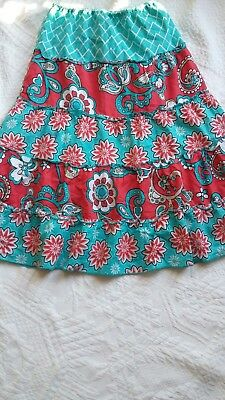 Cato Girls Size M Pink And Blue Floral Skirt