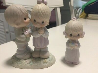 Precious Moments Lot Love is From Above-521841 & Bridesmaid Rare!