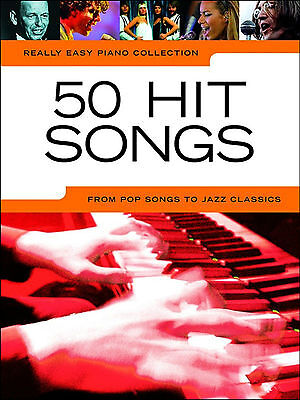 50 HITS FOR EASY PIANO Sheet Music Book Songbook Chords Pop Jazz Rock Chart