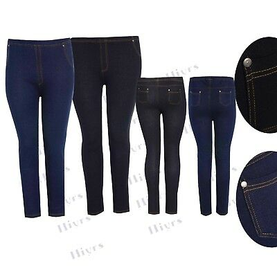 Ladies Skinny Fit Pull On Womens High Waist Stretch Womens Denim Ankle Jeggings
