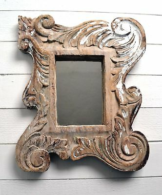 Antique Hand Carved Wooden French Baroque Mirror