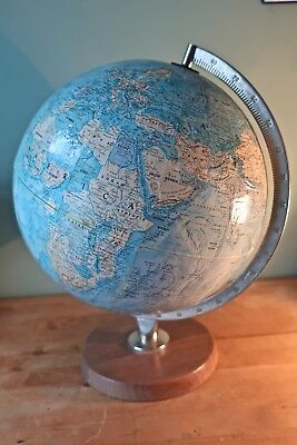 Large Vintage Retro 'Scan Globe of Denmark A/S' with Teak Base 1960s/70s