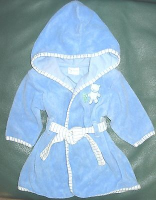 0-9 month boys blue with bear Carter's Tykes robe for after bath or after swim
