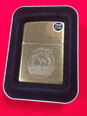 1996 Since 1913 Camel Zippo Lighter Antique Brass Z135
