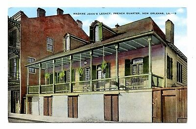 Madame John's Legacy New Orleans Louisiana Postcard Linen French Quarter Dumaine