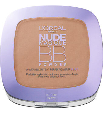 L'Oreal Nude Magique BB Powder Medium Teint Perfektionierer 5in1 Puder 9g