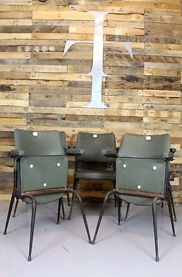 15 X Vintage Retro 1950's Cinema Seats / Stacking Chairs / Dining Chairs