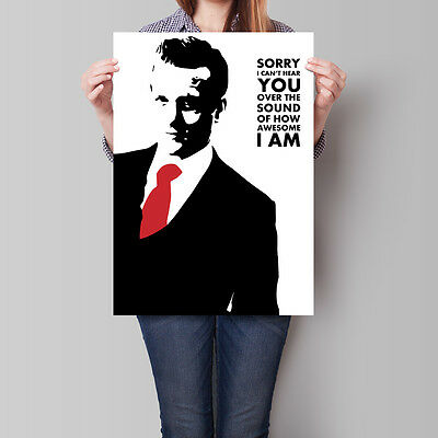 Suits Poster Harvey Specter Wall Art Iconic Stylized Stencil A2 A3 A4