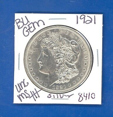 1921 Bu Gem Morgan Silver Dollar Coin #8410 $Unc /ms+++Genuine Us Mint$ Rare