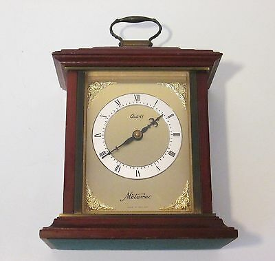 English Mahogany Mantle Bracket Clock - Good Looking Clock With Carrying Handle