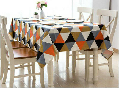 European Style Modern Cotton Rectangle Tablecloth Covers VintageTable Cloth