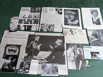 Billie Whitelaw - Film Star -  Clippings /cutting Pack