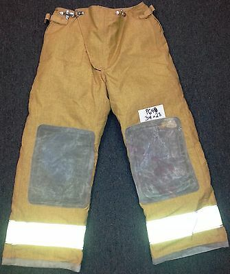 34x28 Pants Firefighter Turnout Bunker Fire Gear w/ Liner Globe Traditional P648