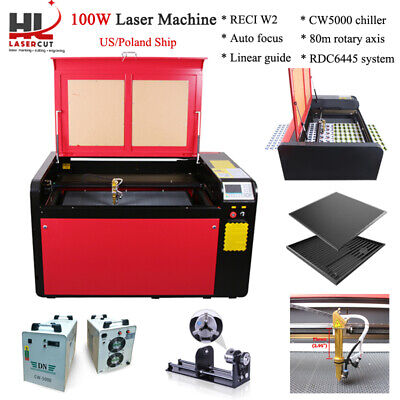 RECI 100W Co2 960x600mm Laser Engraving Cutting Machine Cutter Ruida DSP System